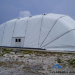 CLamshell Buildings Large Area Maintanance Shelter
